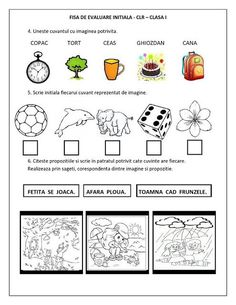 Bildergebnis für fise de romana clasa 0 Preschool Learning, Educational Activities, Preschool Activities, Kids Education, Special Education, Alphabet Writing, Kids Math Worksheets, Kids Poems, Teacher Assistant