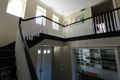 Stair remodel and custom cabinet for big storage