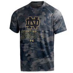 Notre Dame Fighting Irish Under Armour Tech Novelty Camo T-Shirt - Navy - $44.99