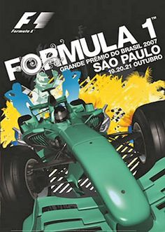 Grands Prix Brazil • STATS F1 Jeep Carros, Gp Do Brasil, Brazilian Grand Prix, Nascar, Gp F1, Italian Grand Prix, Racing Events, Car Posters, Vintage Race Car