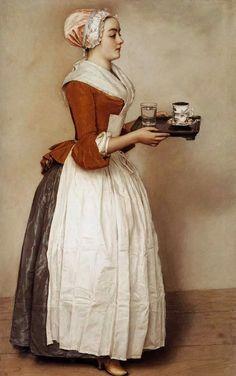 La ragazza del cioccolato  Jean-Étienne Liotard  Pastelli, 1744-45 Gemäldegalerie, Berlino  The chocolate girl  Jean-Étienne Liotard  Pastels, 1744-45 Gemäldegalerie, Berlin