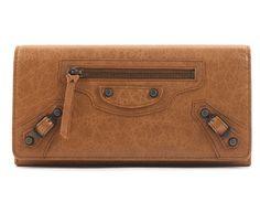 バレンシアガクラシックマネー 長財布 【CUMIN/ブラウン】 163471  -バレンシアガ財布コピー