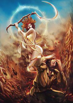 Poludnica -- Harvester of Souls Art by Paola Tuazon  A distressed spirit based from Slavic Mythology.