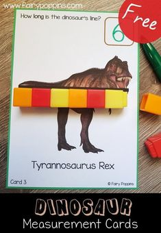 dinosaur Non standard measurement activities for kids. These free dinosaur measurement activities are for kids learning to measure using non standard units such as cubes, paper clips and links. They are suitable for kids in kindergarten and first grade. Dinosaur Classroom, Dinosaur Theme Preschool, Preschool Themes, Preschool Math, Dinosaur Dinosaur, Preschool Printables, Measurement Kindergarten, Measurement Activities, Kindergarten Activities