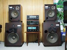 JBL L300 and L65 with vintage McIntosh electronics.