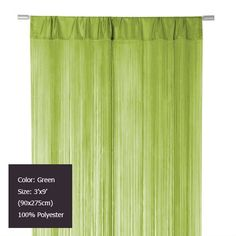 Green waterfall Fringe Curtain String Curtain for home decor and room divider 3' X 9' (90x275cm) US $94.74 / lot ( 6 pieces/lot )