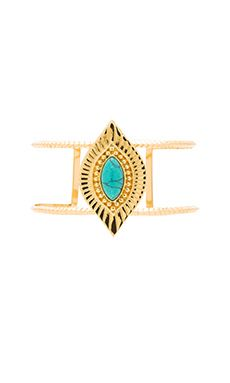 Ettika Cuff in Gold & Turquoise Love the statement that the gold with the turquoise makes!