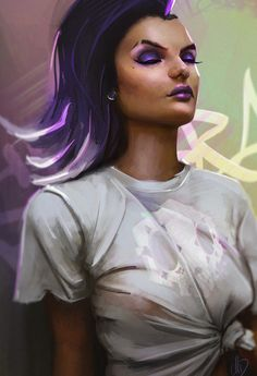 Sombra fan art, Mark GD on ArtStation at https://www.artstation.com/artwork/5avLg - More at https://pinterest.com/supergirlsart/ #overwatch #fanart
