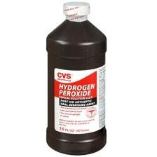 "3% Hydrogen Peroxide. You've seen ""oxy"" this and ""oxy"" that. To get rid of stains, use good old 3% hydrogen peroxide. Add a 1/2 cup to a large load of laundry or 1/4 to medium load instead of chlorine bleach. Fill a spray bottle of hydrogen peroxide to get rid of stains (pet, food, wine, blood etc) on carpets or upholstery. If the material is not colorfast, mix half cool water and hydrogen peroxide. For stubborn stains, make a paste of hydrogen peroxide and baking soda."