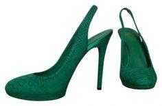 B Brian Atwood Felicite Sling Backs Green Pumps $78 Sienna? Grad?