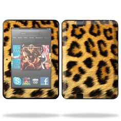 Protective Skin Decal Cover for Amazon Kindle Fire HD 7″ inch Tablet Sticker Skins Cheetah.   Mightyskins are removable vinyl skins for protecting and customizing your portable devices. They feature ultra high resolution designs, the perfect way to add some style