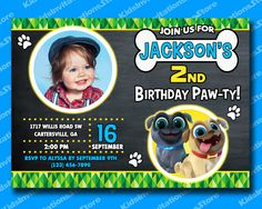 Excited to share the latest addition to my shop: Puppy Dog Pals Invitation-Puppy Dog Pals Photo Invitation-Disney Puppy Dog Pals-Puppy Dog Pals Birthday Party-Digital-Printable Puppy Birthday Parties, Puppy Party, Dog Birthday, Photo Invitations, Digital Invitations, Birthday Party Invitations, Second Birthday Ideas, Party Places, Kid Names