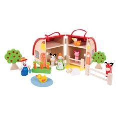 Bigjigs Toys drevená hračka - Hrací set Farma
