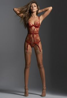 "Agent Provocateur ""Gloria"" basque & knickers 