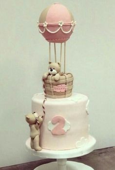 Idéia de bolo super fofo, pode ser adaptado pra menino e pra menina!!!!