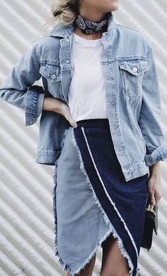 falda vaquera double denim