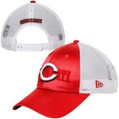 New Era Cincinnati Reds Women's Shine-Over Adjustable Hat - Red/White - $19.19