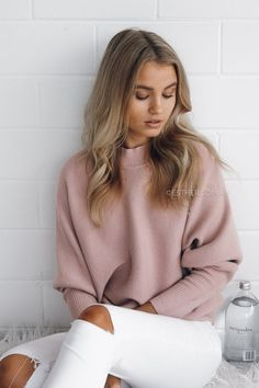 Blush crush in our EMELINE KNIT $59.95   available now @ esther.com.au #estherthelabel