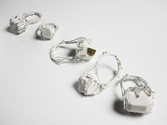 pauline eddie silver gold and porcelain rings