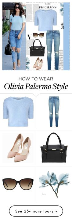 """""""BlueShine"""" by sheinside on Polyvore featuring Versace, Nly Shoes, ASOS, Glamorous and Rebecca Minkoff"""