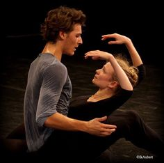 Hugo Marchand and Leonore Baulac, Paris Opera Ballet. Photo by Isabelle Aubert