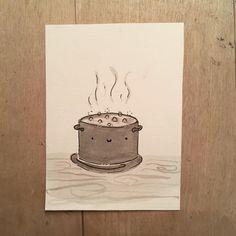 "#mosseryinktober day 3! ""dinner"" . . . . . . . . . #mosseryinktober #mosseryinktober2019 #inktober2019 #inktober #inkdrawings #artistsoninstagram #artwork #art #illustration #illustrationartists Illustration Artists, Inktober, Dinner, Artwork, Instagram, Dining, Work Of Art, Auguste Rodin Artwork, Food Dinners"
