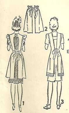 Advance 3313 Vintage 40s Sewing Pattern Full Or Half Apron Pinafore Size Medium