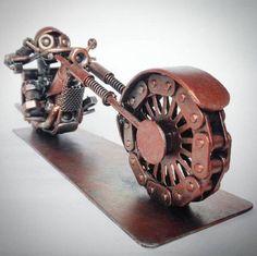 #Weldart by @ dmitry.v.baranov - #westcoweld #ukwelding #welding #motorbike #metalart #chain #wheel #skulpture