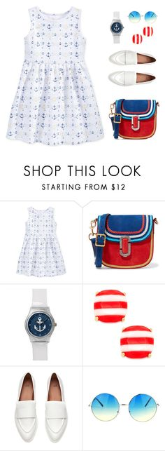 """""""Nautical"""" by gelykou ❤ liked on Polyvore featuring Maison Jules, Marc Jacobs, Kate Spade and Nautical"""