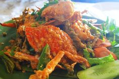 "Kep, Cambodia (fried cried in Kampot green pepper sauce) ""Best crab in the world"""