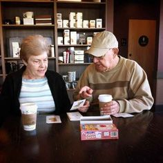 The man who is teaching his wife the alphabet after she lost her memory: