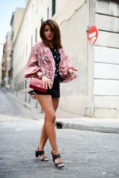 Red Woc - Lovely Pepa by Alexandra Shorts with kimono
