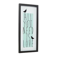 Debenhams Pale green 'All You Need Is Love' wall art- at Debenhams.com