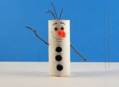 Cardboard Tube Olaf: We love crafts that use supplies we already have offhand — and the base of Crafts by Amanda's cute Cardboard Tube Olaf is a toilet paper roll. Source: Crafts by Amanda