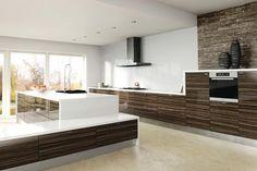 The Zenit Ceylon Macassar is a warm and modern design, with useful storage solutions. #interior #home #design #style #kitchen #zenit #ceylonmacassar #gloss #brown