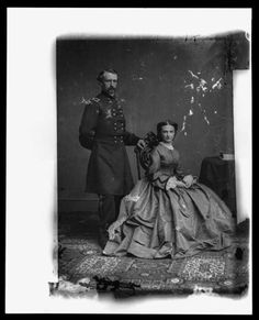 General George Custer and wife, Libbie.