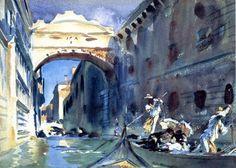 Ponte Dei Sospiri - Aquarelle de John Singer Sargent
