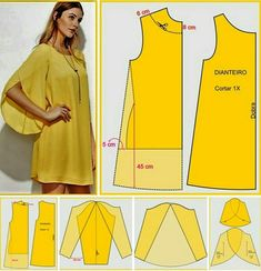 Easy sewing tips are available on our website. Check it out and you wont be sorry you did. Dress Sewing Patterns, Clothing Patterns, Fashion Sewing, Diy Fashion, Moda Fashion, Costura Fashion, Sewing Sleeves, Sewing Blouses, Pattern Cutting