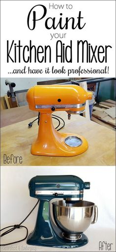How to PAINT your Kitchen Aid mixer and have it look professional! DIY STEP BY…