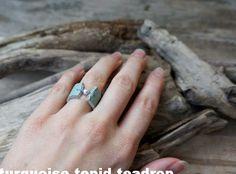 Turquoise Tepid Teadrop: Ringe aus Leder // DIY: Leather Rings