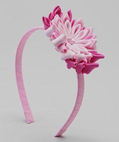 Look at this #zulilyfind! Pink & White Flower Headband by Picki Nicki #zulilyfinds