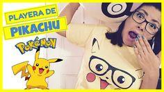 DIY Crea tu propia playera de Pikachu!!! - Pokémon T-shirt!!!