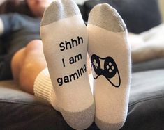 Video Game Gifts for Boyfriend - Gamer Gifts for Him - Awesome Christmas Gifts - Best Gift Ideas - Christmas Gift Ideas for Men - Mens Socks