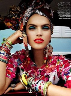 Wish this was a cropped lycra rashy! Vogue Brasil February 2013 www.saltgypsy.com | Style in the Lineup