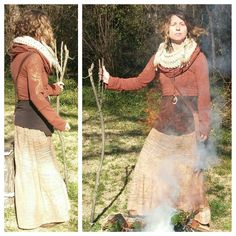 Filter by fire and smoke on this beautiful day. Another all season layering ensemble. 〰〰〰〰〰〰〰Burning fire, burning bright. Burn our fears, release the light. Circle round, ash come down. Grow our prayers up from the ground.  #adornyoursoul #forestfashion #sacredstylist #sacredsong #ecofashion #layering