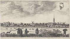 Gezicht op Utrecht, (plaat III), Herman Saftleven, 1648