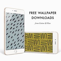 Free iphone wallpapers from Cotton & Flax