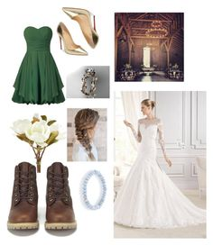 """""""Country wedding"""" by z-wallace on Polyvore featuring Timberland, Pier 1 Imports, Christian Louboutin, Sydney Evan and country"""