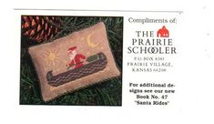 The Prairie Schooler Santa in Canoe mini promo card - Cross Stitch ...
