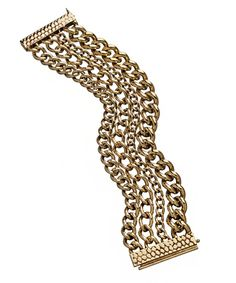 ABS Gold Plated Multi Row Chain Bracelet